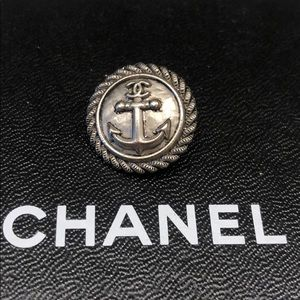 Authentic Silver Chanel Anchor Button